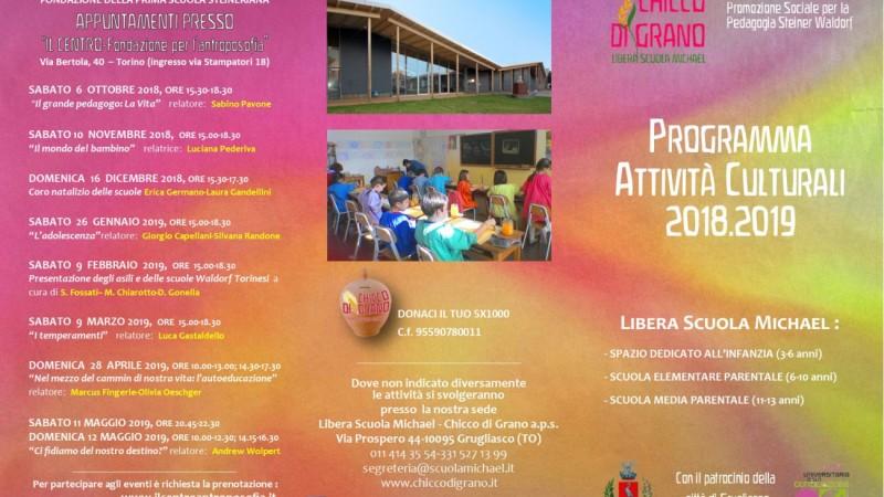 programma culturale 2018/2019